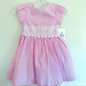 NWT pink and white dress